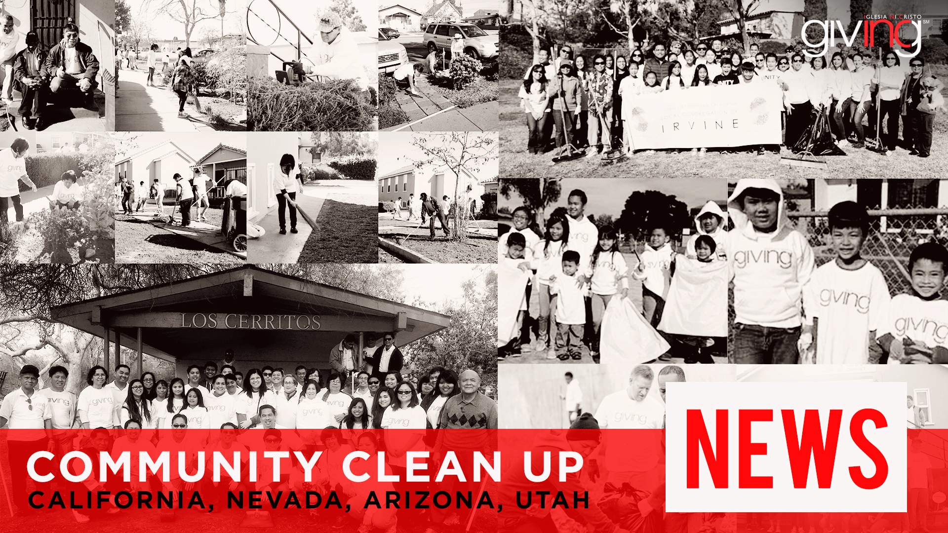 INCGiving News:  Families in Southern California, Nevada, Arizona and Utah Kick Off the New Year with a Community Clean Up